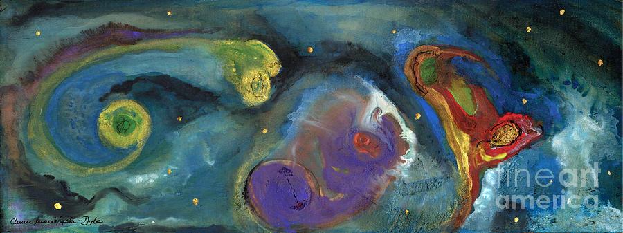 Polonia Painting - Abstract Galaxy  by Anna Folkartanna Maciejewska-Dyba