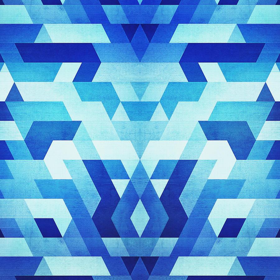 Abstract Geometric Triangle Pattern Futuristic Future ...