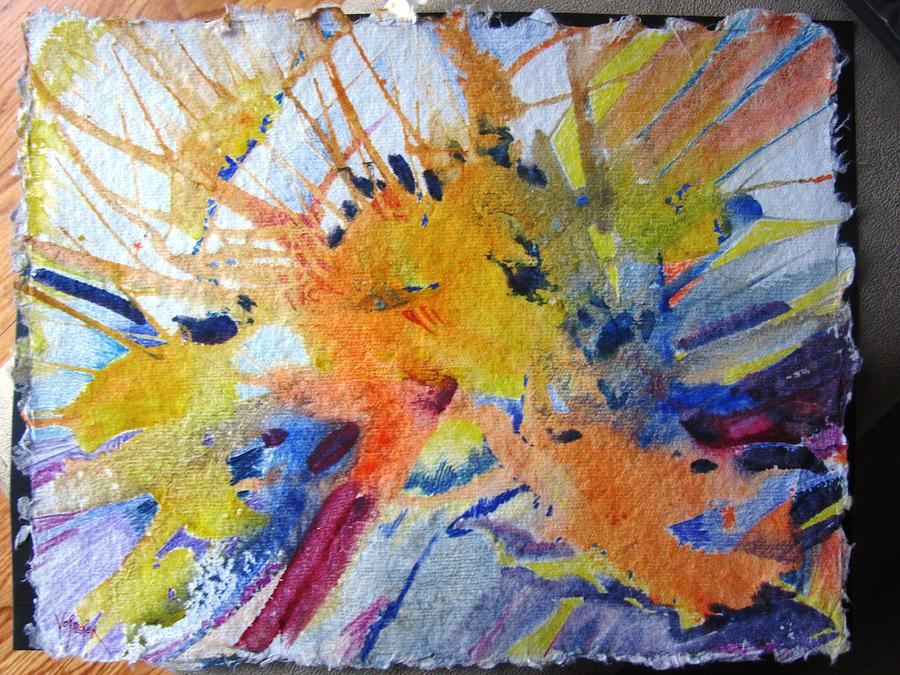 Abstract Painting - Abstract Gold by Linda Vorderer