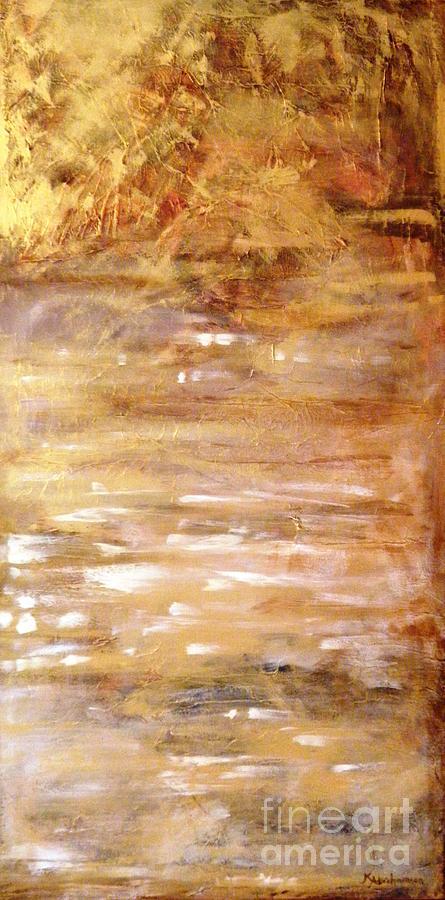 Abstract Golden Sunrise Beach  by Kristen Abrahamson