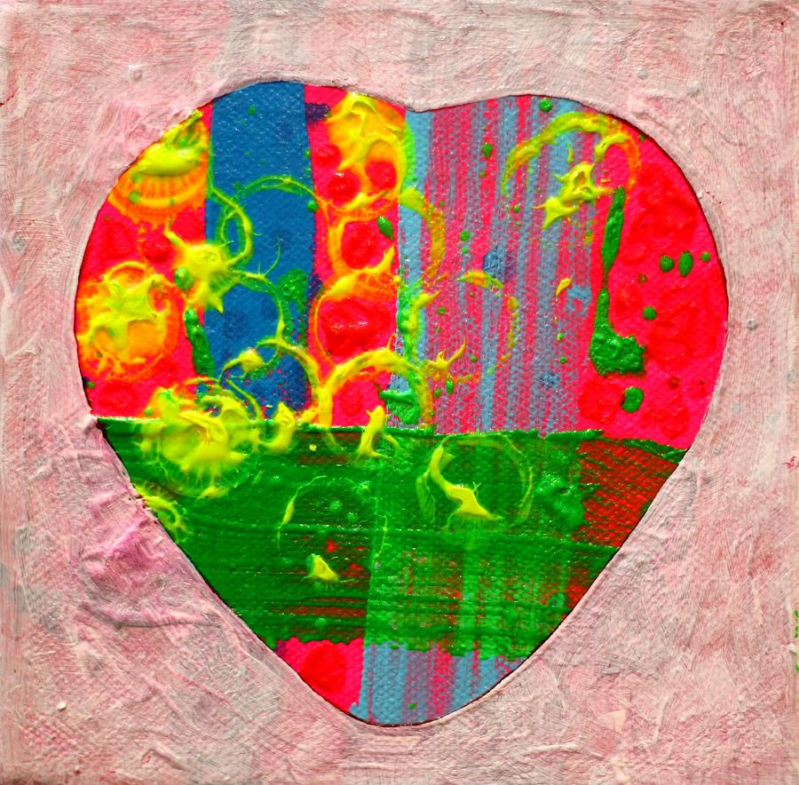 Abstract Painting - Abstract Heart 310118 by John  Nolan