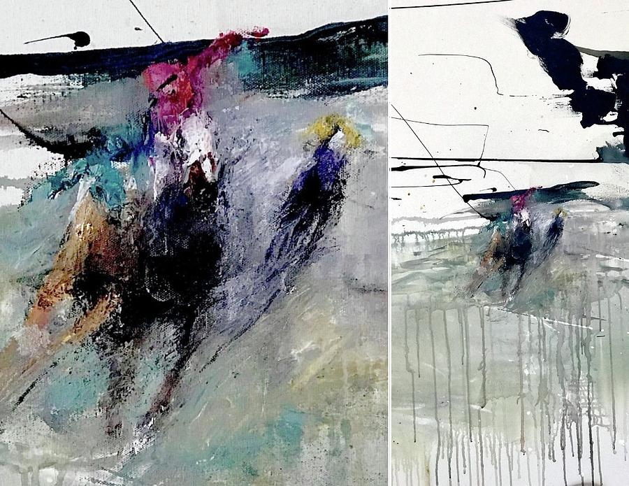 Palette Knife Painting - In Motion  by Heather Roddy