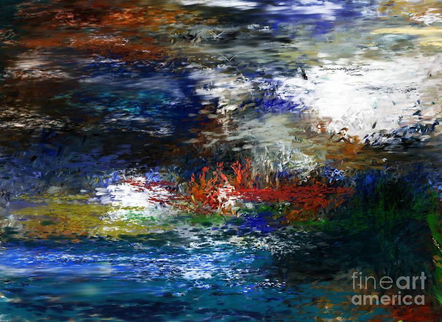 Abstract Digital Art - Abstract Impression 5-9-09 by David Lane