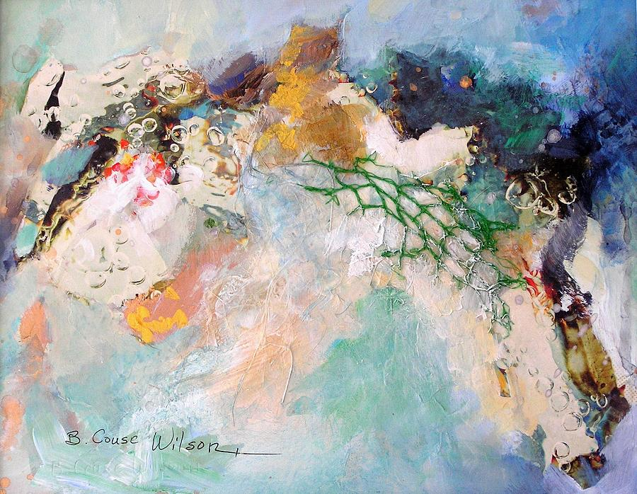 Cool Color Painting - Abstract In Green by Barbara Couse Wilson