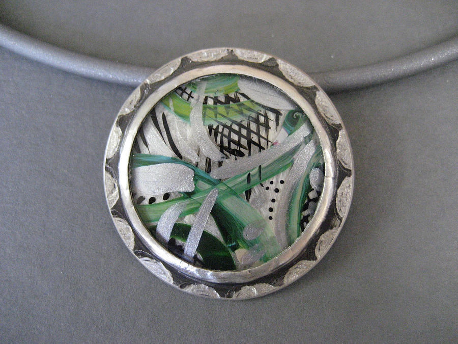 Abstract Jewelry - Abstract In Green by Brenda Berdnik