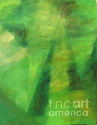 Abstract in Green, by Peter Carcia by Paul Galante