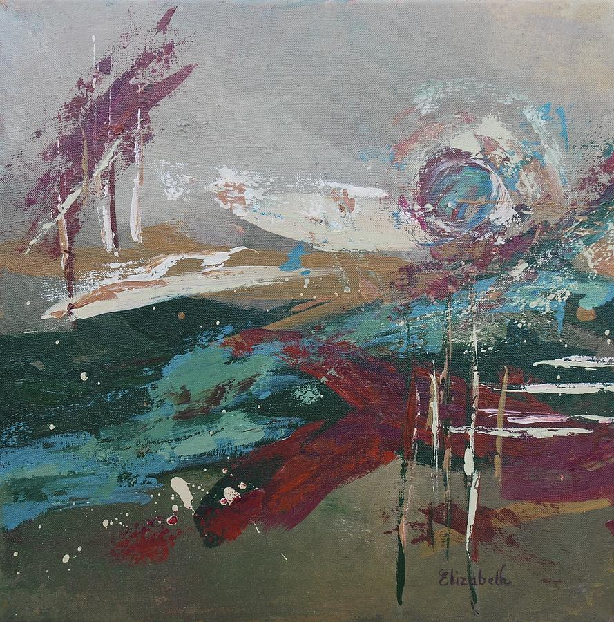 Abstract. Jewel Tones Painting - Abstract In Jewel Tones by Beth Maddox
