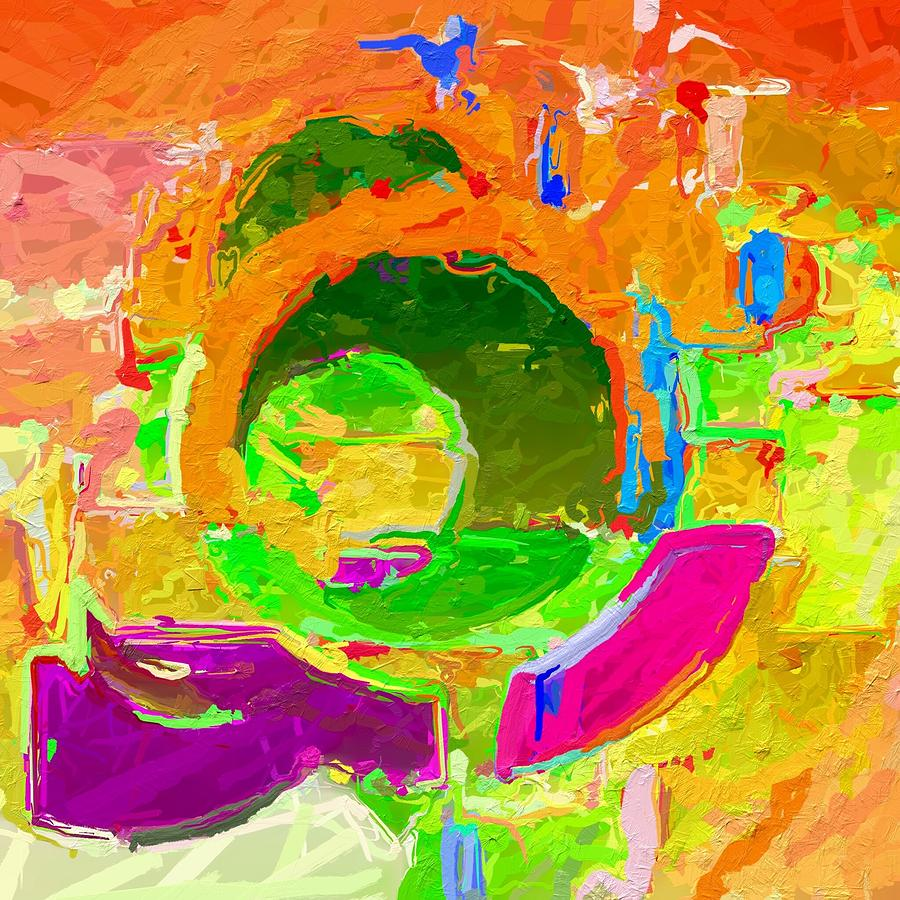 Abstract In Lively Colours Digital Art by Clive Littin