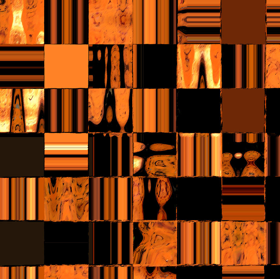 Abstract In Orange And Black