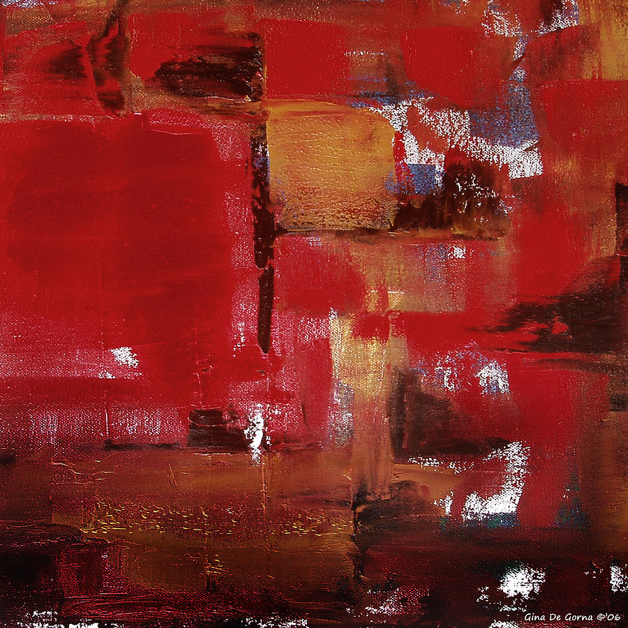 Abstract Painting - Abstract In Red by Gina De Gorna
