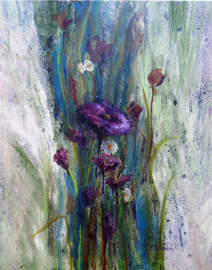 Violet Painting - Abstract In Violet by Beth Maddox