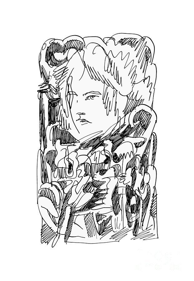 Abstract Ink Drawing Drawing