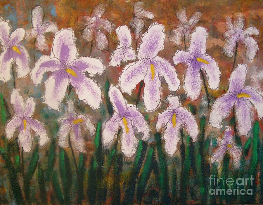 Abstract Painting - Abstract Irises by Don Phillips