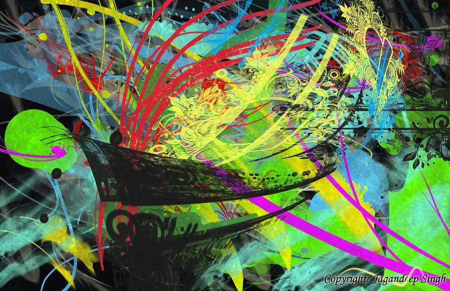 Abstract Digital Art - Abstract by Jagandeep Singh
