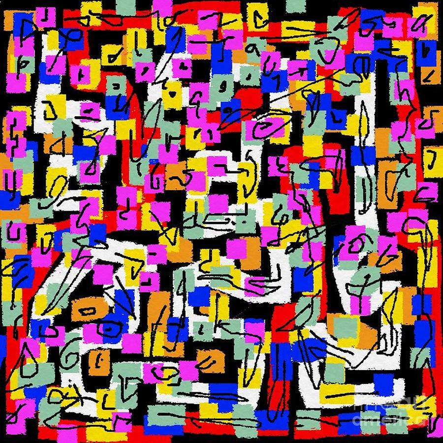 Abstract Digital Art - Abstract Laberinto 2 by Eliso Ignacio Silva