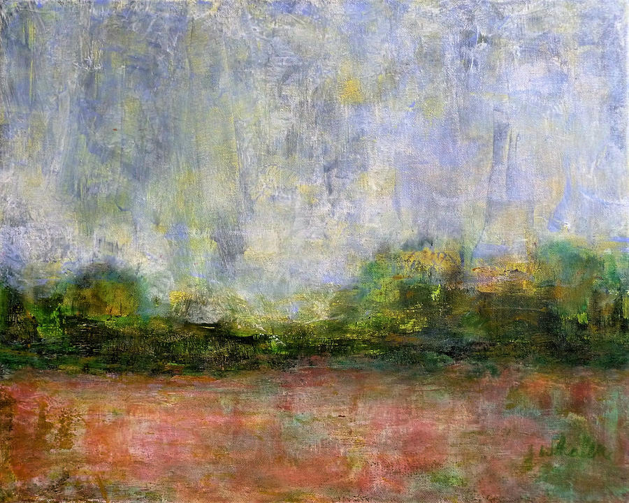 Abstract Landscape #310 - Spring Rain by Jim Whalen