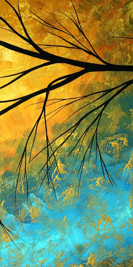 Abstract Painting - Abstract Landscape Art PASSING BEAUTY 2 of 5 by Megan Duncanson