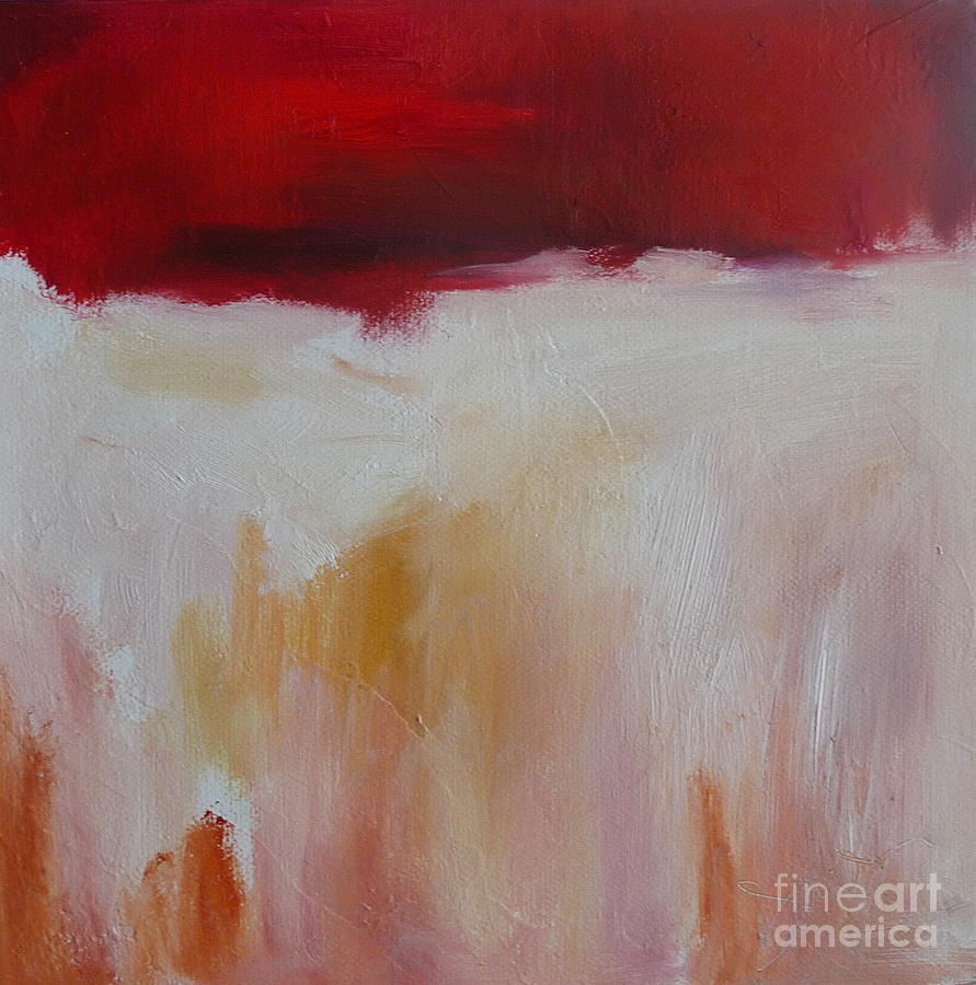 Red Oil Paintings Painting - Abstract Landscape In Red by Xx X