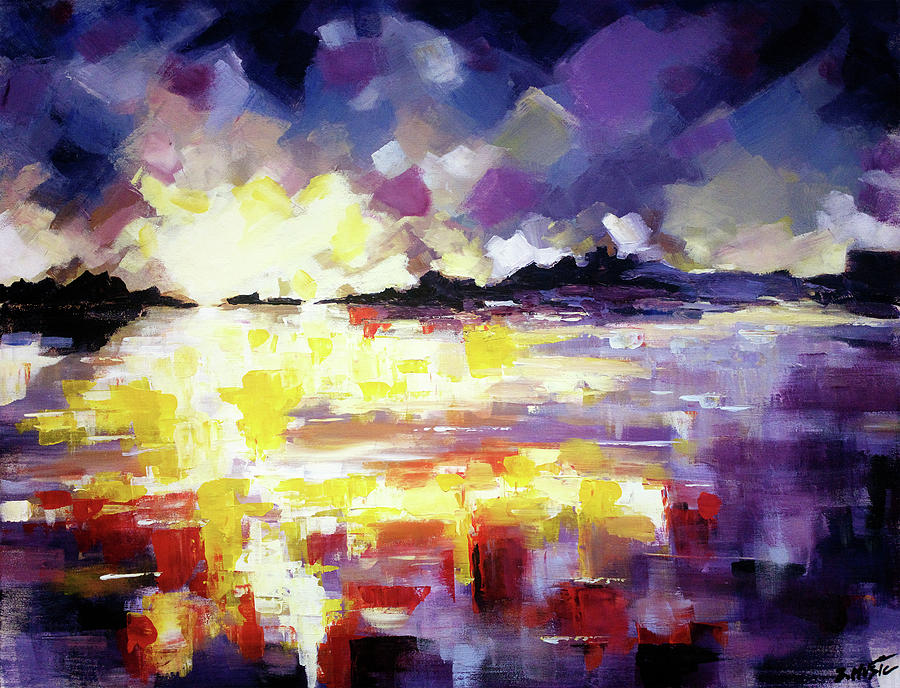 22217354d Abstract Landscape. Abstract art painting, contemporary modern art painting  by artist Zlatko Music.