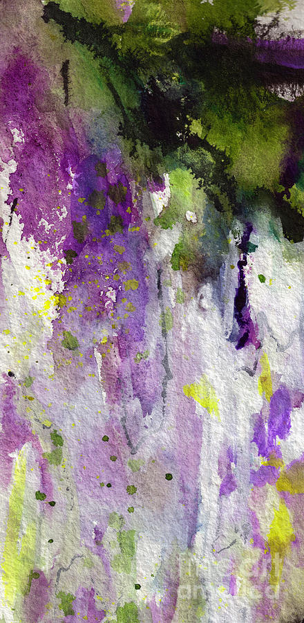 Abstract Lavender Cascades Painting by Ginette Callaway