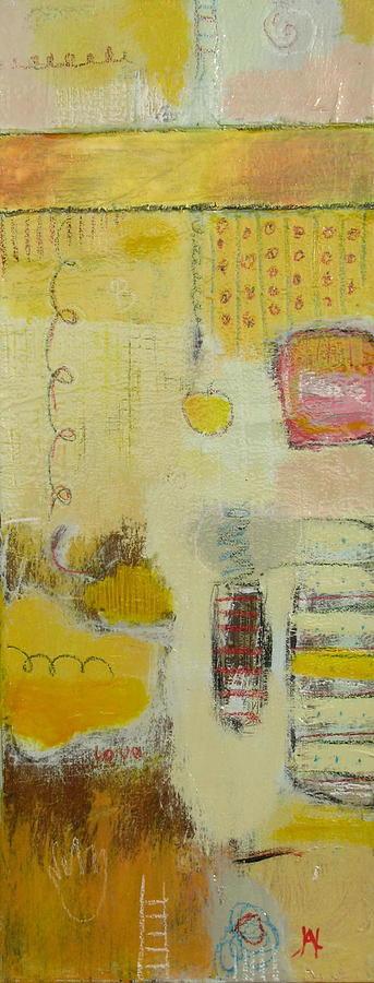Abstract Painting - Abstract Life 1 by Habib Ayat