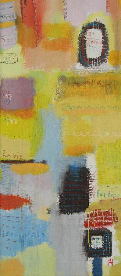 Abstract Painting - Abstract Life 3 by Habib Ayat
