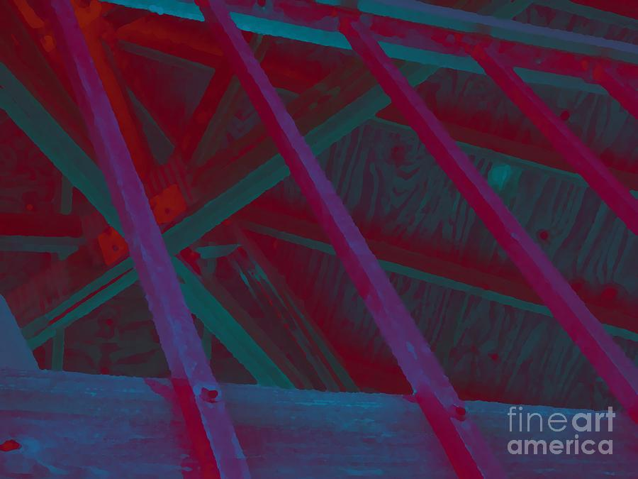 Abstract Digital Art - Abstract Line by John  Bichler