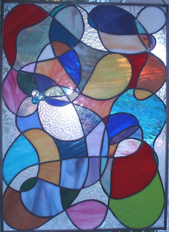 Stained Glass Glass Art - Abstract by Liz Lowder