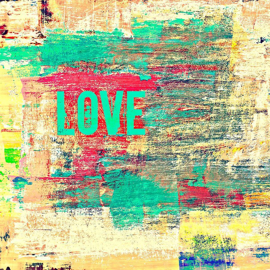 Brandi Fitzgerald Digital Art - Abstract Love V2 by Brandi Fitzgerald