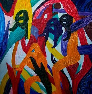 Abstract Man Painting by Ira Stark