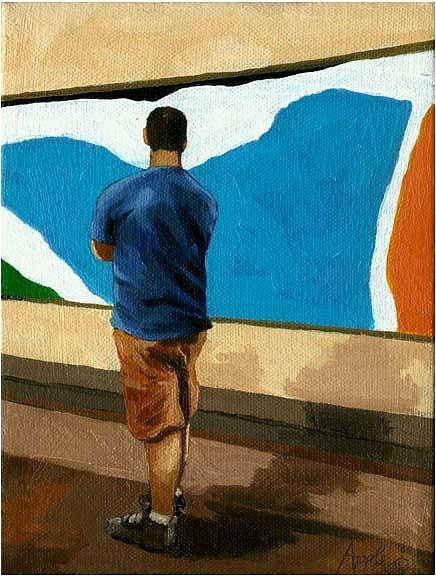 Figurative Painting - Abstract Man by Linda Apple