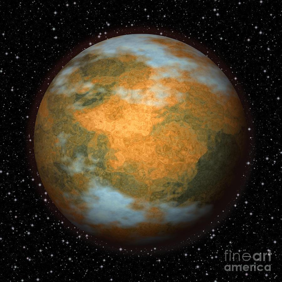Abstract Mars Digital Art