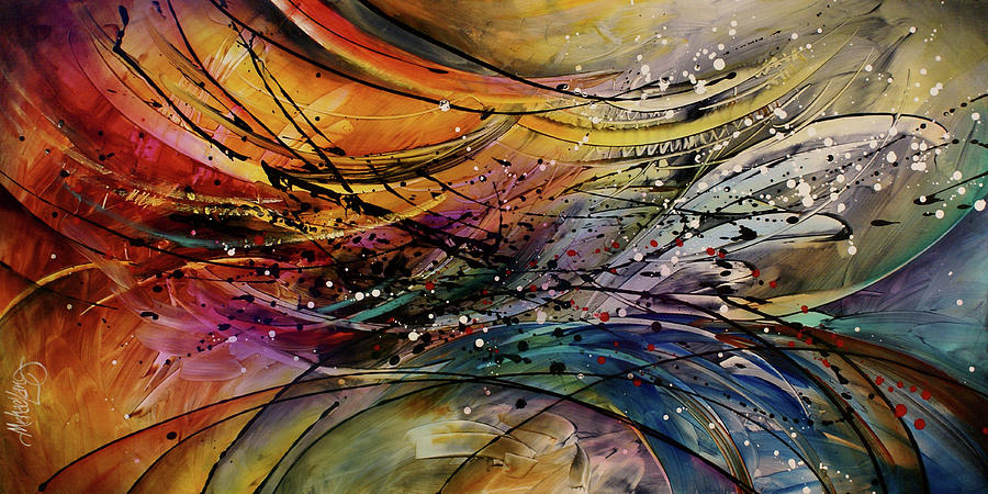 Expressionism Painting - Abstract by Michael Lang