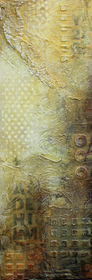 Abstract Modern Art Earth Tones by Patricia Lintner