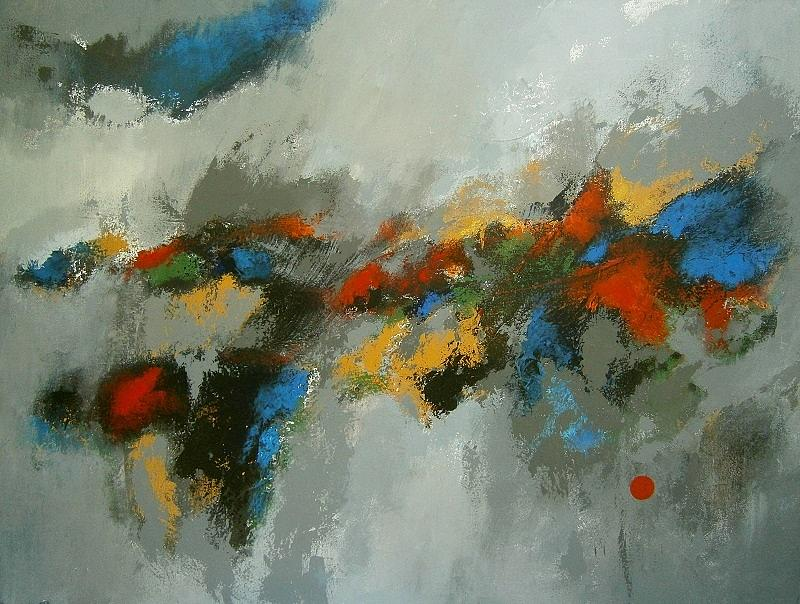 Colors Painting - Abstract by Moni Leibovitch