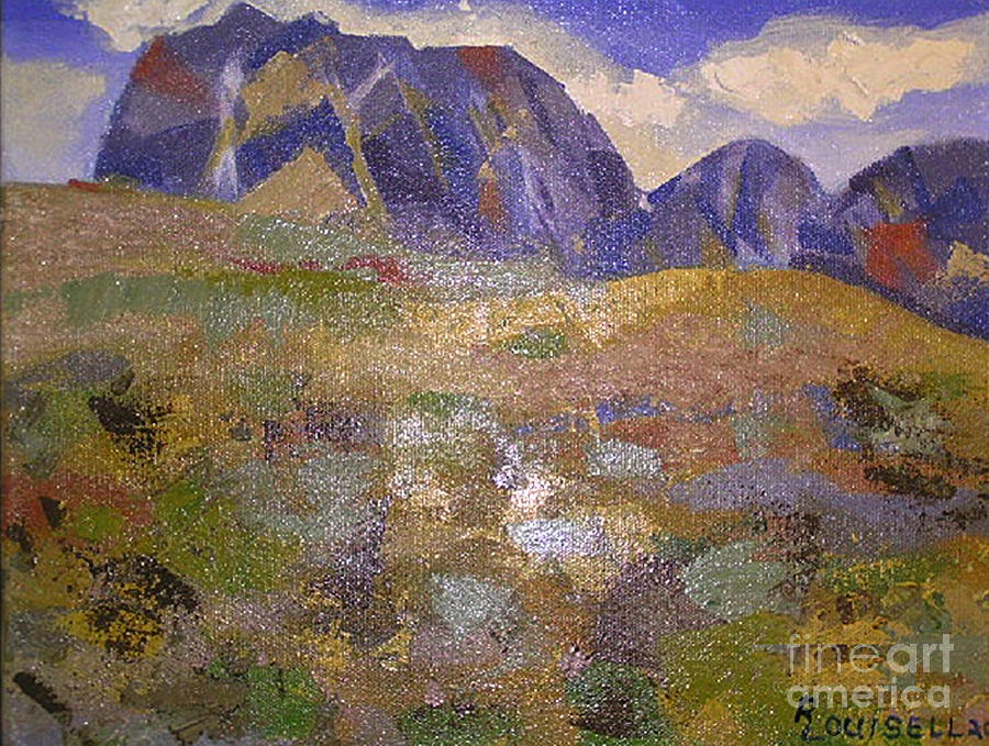 Abstract Painting - Abstract Mountain Landscape by Robyn Louisell