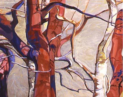 Trees Painting - Abstract Nature One by Tony Mininno