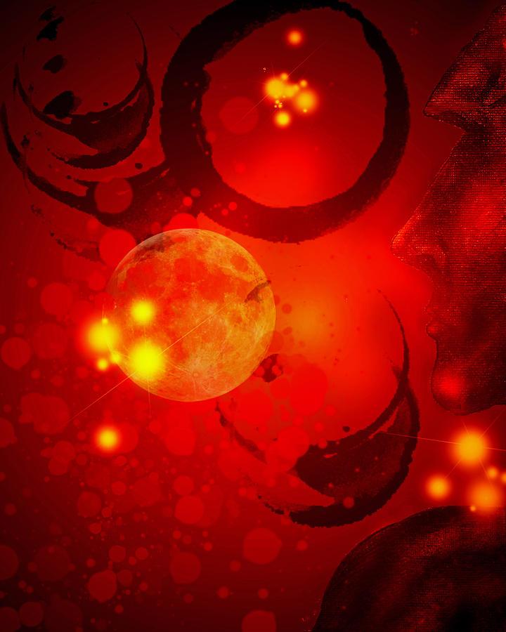 Abstract Digital Art - Abstract-nebula by Patricia Motley