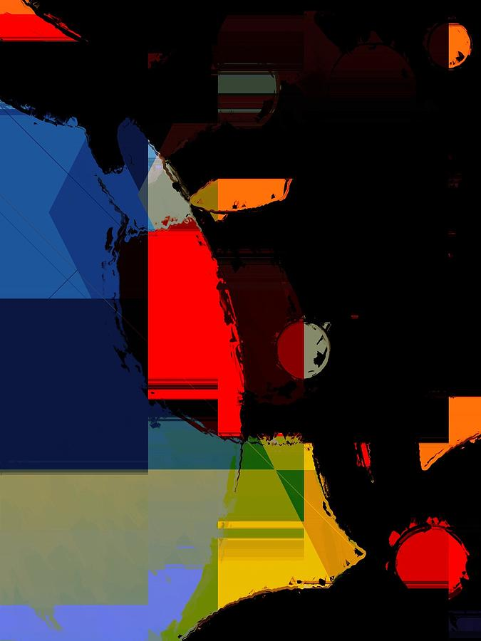 Abstract Digital Art - Abstract Night by Cooky Goldblatt