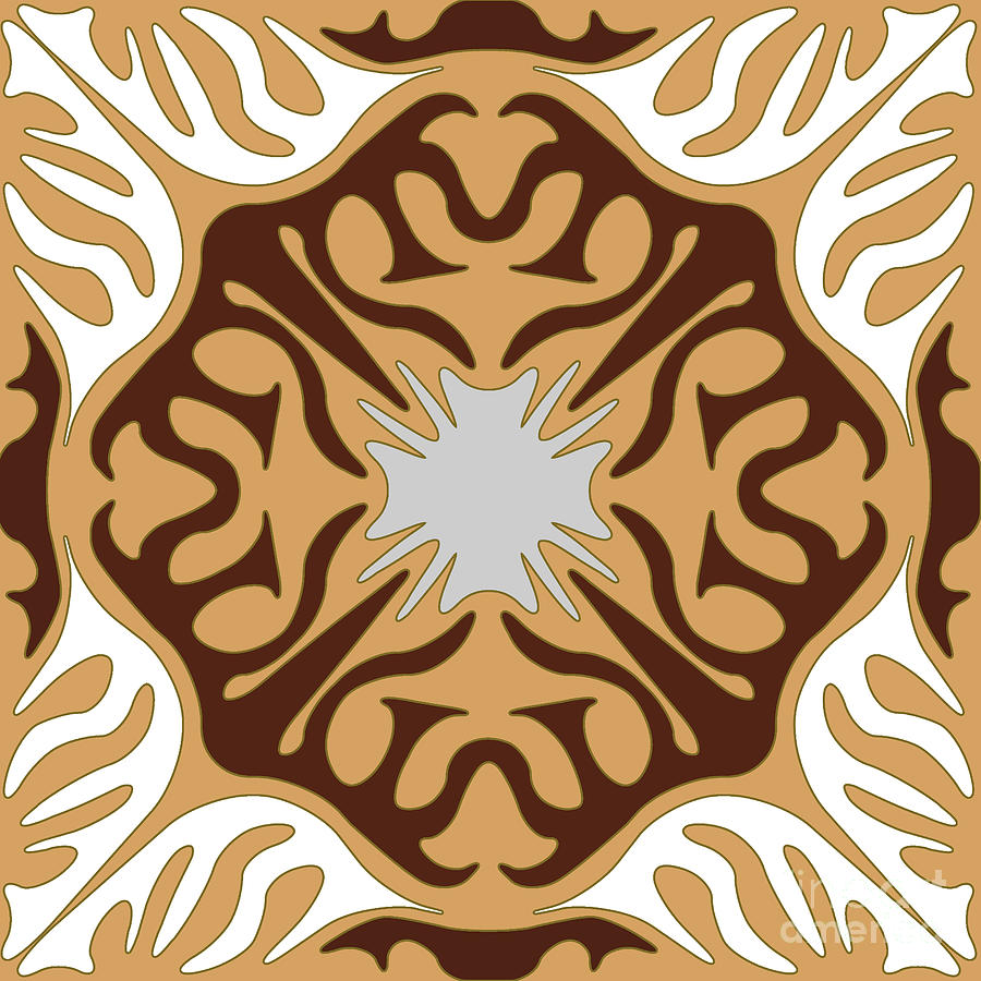 Abstract No. 2 in Light Earth Tones by Melissa A Benson