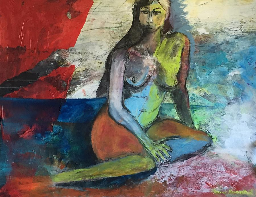 Figure Mixed Media - Abstract Nude by Jason Rosenstock