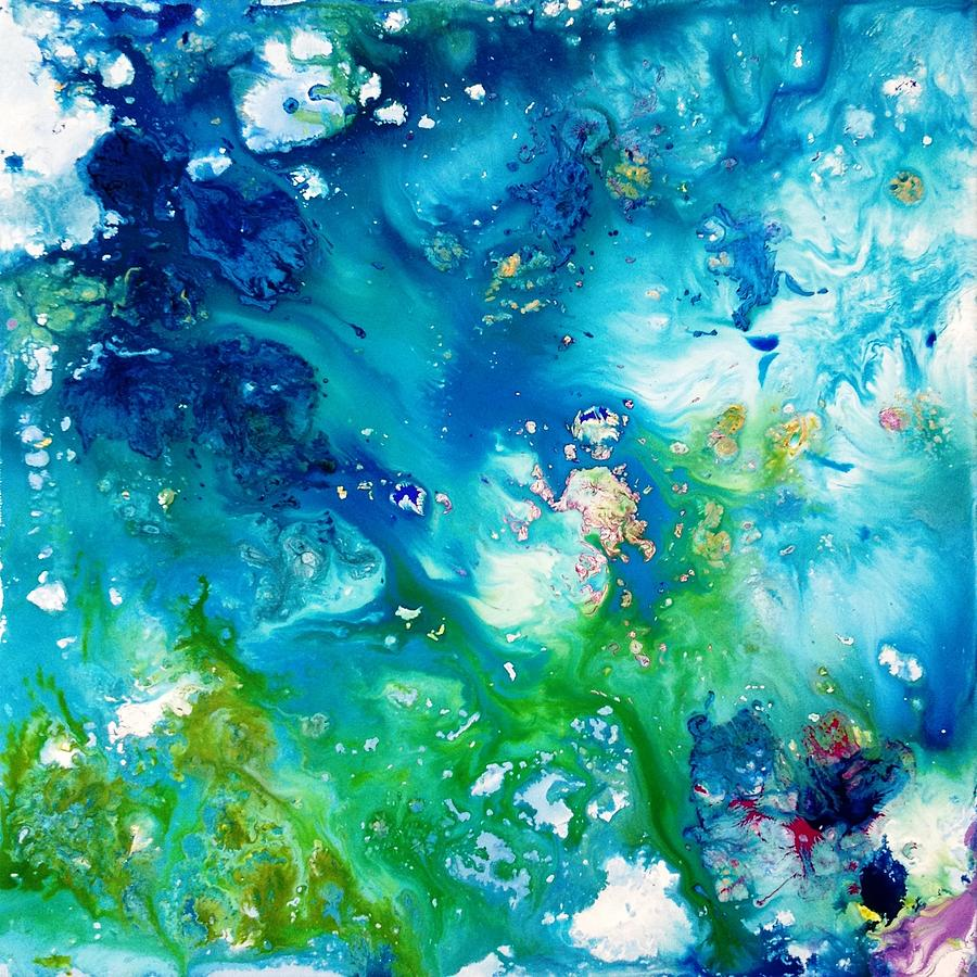 Abstract Ocean Painting by Ivy Stevens-Gupta