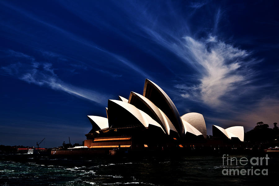 Sydney Opera House Photograph - Abstract Of Sydney Opera House by Sheila Smart Fine Art Photography