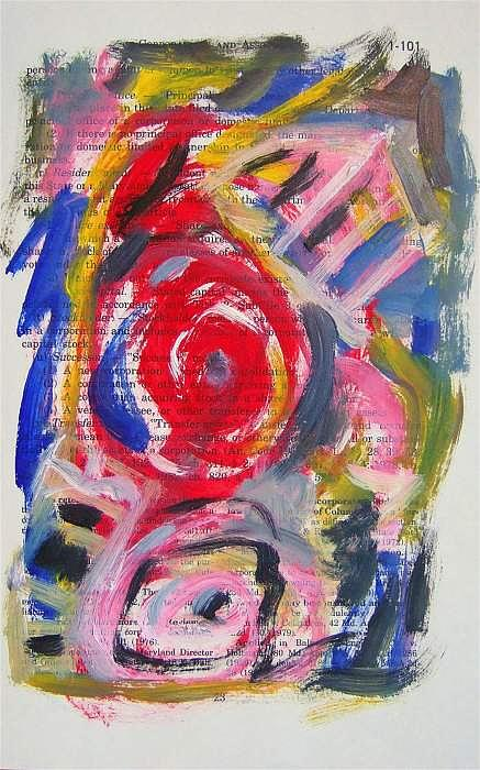 Abstract Painting - Abstract On Paper No. 24 by Michael Henderson