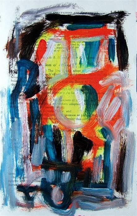 Abstract Painting - Abstract On Paper No. 34 by Michael Henderson