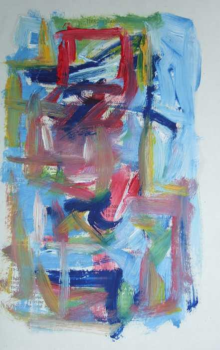 Abstract Painting - Abstract on Paper No. 37 by Michael Henderson
