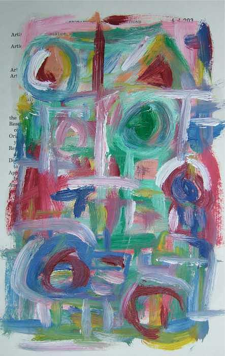 Abstract Painting - Abstract On Paper No. 38 by Michael Henderson