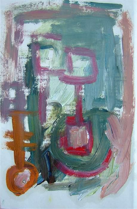 Abstract Painting - Abstract On Paper No. 8 by Michael Henderson