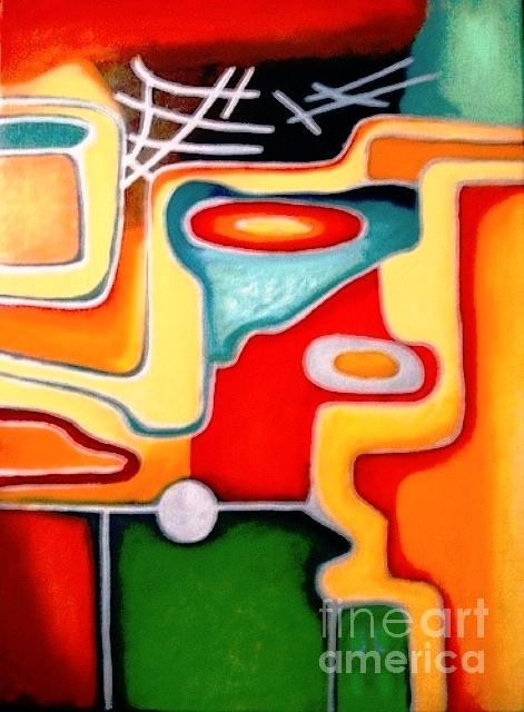 Abstract Painting - Abstract Orange by Sd Chopra
