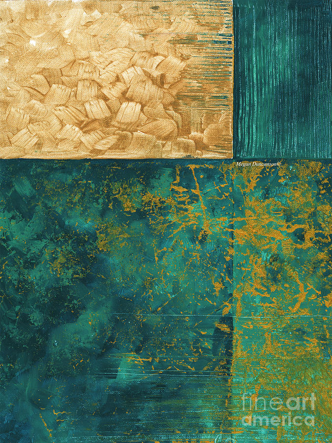 Abstract Original Painting Contemporary Metallic Gold And